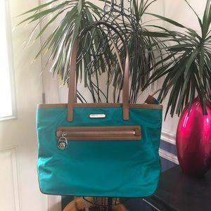 Michael Kors emerald green and brown shoulder Bag